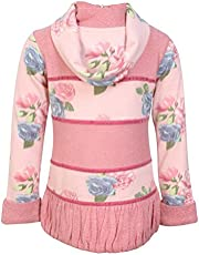 Cutecumber Girls Sweater Knit Floral Printed Pink Top AM-CC880A-PINK