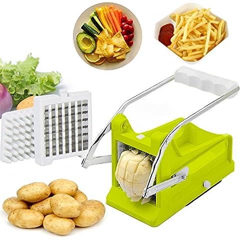 Brieftons - Cortador de patatas: perfecto para hacer patatas chips caseras, patatas fritas, verduras en bastoncitos para ensaladas, aperitivos, guarniciones y más