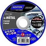 Norton Tronçonnage fin plate expert Métal/Inox 125 x 1 x 22,2