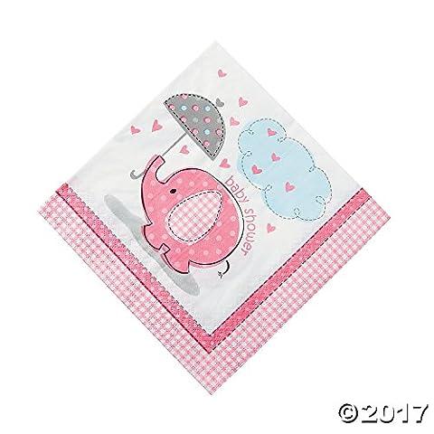 Umbrellaphants Pink Luncheon Napkins - Pack of 16