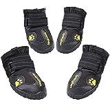 Zapatillas para perro Magic Zone, impermeables y antideslizantes para la nieve, 4 unidades, disponibles en distintos tamaños