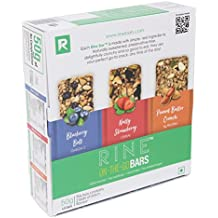 RINE Bars Sugar Free Granola and Cereal Bars for Breakfast & Snacks, Assorted Granola Protein Bars (Pack of 6)