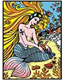 "Colorvelvet 37 x 28 cm ""Mermaid"" Drawing Colouring System (Medium, Multi-Colour)"