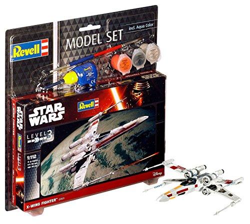 Revell Modellbausatz Star Wars X-Wing Fighter im Maßstab 1:112, Level 3, originalgetreue Nachbildung mit vielen Details, Model Set mit Basiszubehör, einfaches Kleben und Bemalen, 63601