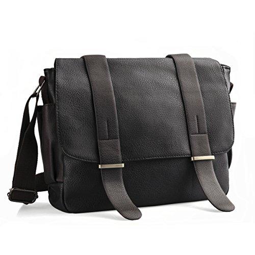 Umhängetasche,LOSMILE PU Leder Schultertasche Messenger Bag, Casual Vintage Herrentaschen.