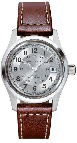 HAMILTON MEN'S 38MM BROWN CALFSKIN BAND STEEL CASE AUTOMATIC WATCH H70455553