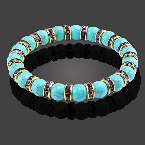 DLIAAN Armbänder Frauen Buddha Armband Schmuck Marineblau Dichtung Natürlichen Kristall Blau Stein Perlen Yoga Fitness Mode Energie Yoga Armbänder