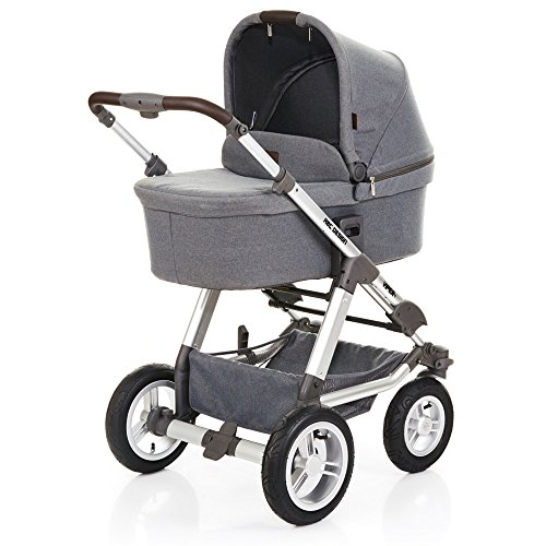 ABC Design Viper 4 - Kombikinderwagen mit Lufträdern - Komplett-Set 2in1 - inkl. Babywanne & Sportwagen (Mountain)