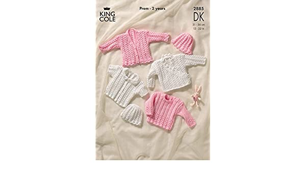 773115a0c1be King Cole Knitting Pattern 2885   Baby DK Cardigans