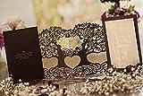 """Creative """"Love Tree"""" Laser geschnitten Hochzeit Einladung Karte in Schokolade Farbe, gratis Passende Umschlag, inkl. passender Einsatz Karte und gratis Seal (10Stück)"""