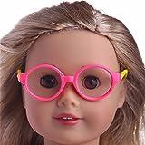 MCYs Amerikanisches Puppenzubehör, Stilvolle Kunststoffrahmen Sonnenbrille für 18 Zoll unsere Generation American Girl Doll