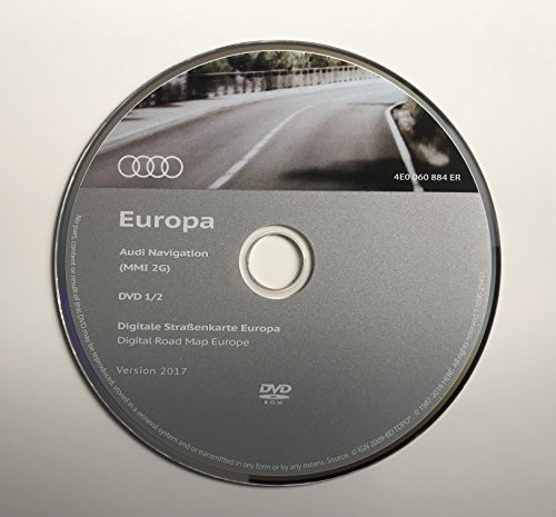 2017 Audi MMI 2 G High SAT NAV Map Update Disc Navigation DVD UK & Western Europe (Gps-update-disk)