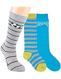 Vitasox Kinder Kniestrümpfe Jungen Socken Baumwolle Kinderkniestrümpfe Ringel Ringelkniestrümpfe ohne Naht 3er oder 6er Pack