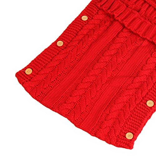 ... Swaddle sacco nanna per bambini 0 – 12 mesi neonato Wrap coperta per  bambini passeggino Wrap Sleep Sacks Button (Rosso). Visualizza le immagini fd42618efdb4