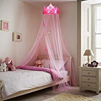 MultiWare Crown Mosquito Net Princess Bed Canopy Girls Bedroom Warm Curtain Dome Canopy