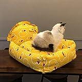 YXINY Hundehütte Katzenschlafsack Katzen-Nest Teddy Kennel Prinzessin Wind Pet Nest Tiefes Schlafnest Hundebett Jahreszeiten Abnehmbar Und Waschbar (größe : L)