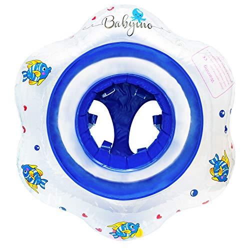 Babyino Premium Babysitzring - AUSVERKAUF DA AUSLAUFMODELL Baby Schwimmring Schwimmsitz Schwimmhilfe 6 bis 36 Monate bis 15 kg