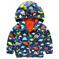 EZB Childrens Unisex Dinosaur Windbreaker Jacket (Blue/Multicoloured)