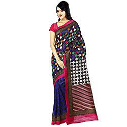 Glory Sarees Women's Bhagalpuri Silk Saree (kalapi24_Blue)