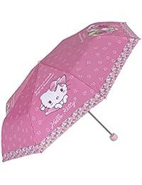 Perletti - Paraguas Hello Kitty para niña - plegable y antiviento - Manual