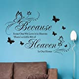 Missofsweet Because Some One We Love Is In Heaven Butterfly Carved Living Room Bedroom Background Wall Sticker Decor by Missofsweet