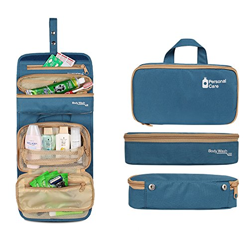 flycool-portable-toiletry-bag-travel-organizer-for-makeup-or-shaving-kit-with-hanging-hook-blue