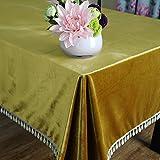 BUUYI Nappe de Tables Simple moderne couleur uni gold 140X180cm Mariage hôtel restaurant