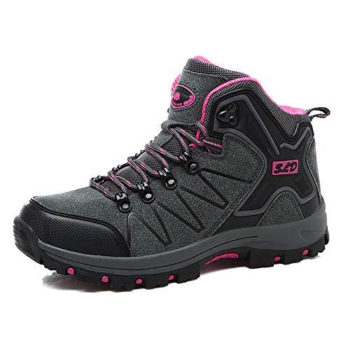 Easondea Herren/Damen Wanderschuhe Wanderstiefel Unisex Trekking Schuhe Outdoor Walking Schuhe Gleitsicher Stiefel mit Perfekter Dämpfung Dicker Size 35-47