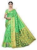 Pisara Women's Chanderi Silk Saree,Lime Green Sari