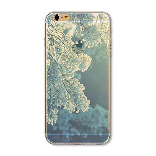 Coque iPhone 6 6s Housse étui-Case Transparent Liquid Crystal en TPU Silicone Clair,Protection Ultra Mince Premium,Coque Prime pour iPhone 6 6s-Paysage-style 6 2