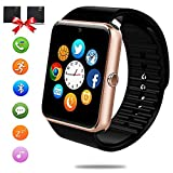 Smart Watches for Android Phones - Bluetooth Smart watch with SIM Card Slot Touch Screen Smart Wrist Watch with Pedometer Sleep Monitor for Kids Men Women Compatible Iphone and Samsung LG Phones