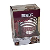 HERSHEY'S IC13895 Ice Cream Cups and Spoons, Tan