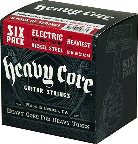 Dunlop Saiten für E-Gitarre, vernickelter Stahl, schwerer Kern, 6 Stück