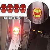 4pcs Rot Reflektierend Auto Türschlösser Schutzabdeckung Auto Innenraum Schutz Zubehör Türen Abdeckungen Für Tiguan Polo Passat B5 B6 B7 Octavia A7 Fabia Superb Golf 6 MK6 MK7 Golf 7 Jetta MK5 MK6