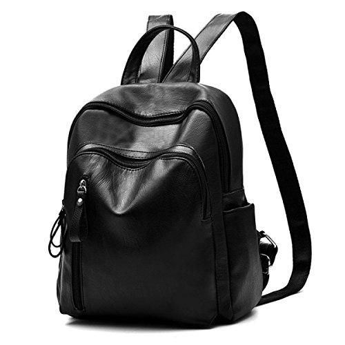 Frauen Wasserdicht Mode College Rucksack Reisetasche Black