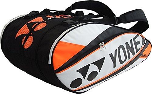 Yonex, Borsa per racchette Pro Racket Thermobag, capienza: 9 racchette, Bianco (Weiß), 78 x 36 x 35,5 cm, 60 l