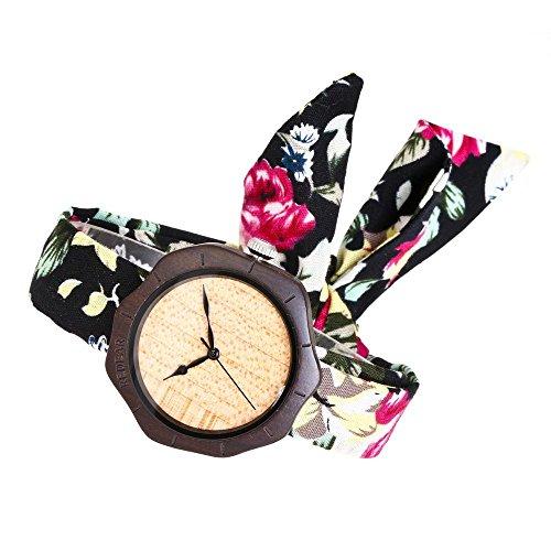 Xhyqs Holz Uhr Bambus Holz Lederband Natürliche High-End-Holz Uhr Japanische Quarzwerk Weiblich Männlich (Zeichen Männlich Weiblich)
