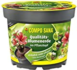 Compo Sana Qualitäts-Blumenerde im Pflanztopf 3,5 Liter 22cm Topf Durchmesser