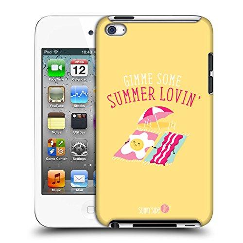Head Case Designs Offizielle Muy Pop Eier Und Speck Sonnige Seite Hoch Sommer Harte Rueckseiten Huelle kompatibel mit Apple iPod Touch 4G 4th Gen