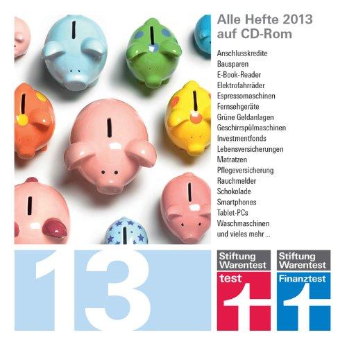 Stiftung Warentest test und Finanztest Archiv CD-Rom 2013, 1 CD-ROM Alle Hefte test und Finanztest 2013 auf CD-Rom. Für PC, Mac und Linux