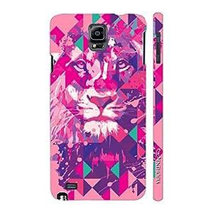 Enthopia Designer Hardshell Case Lion Art Light Pink Back Cover for Samsung Galaxy Note 4