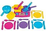 24 tlg Küchenset Kochgeschirr mit Herd für die Spielküche