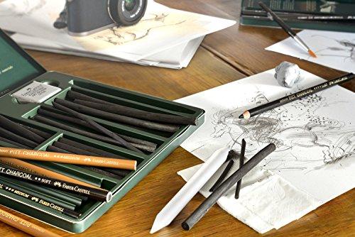 Faber-Castell PITT GRAPHITE PURE 6B 1pieza(s) laápiz de color – Lápiz de color (1 pieza(s), Fijo, Negro, Alrededor)