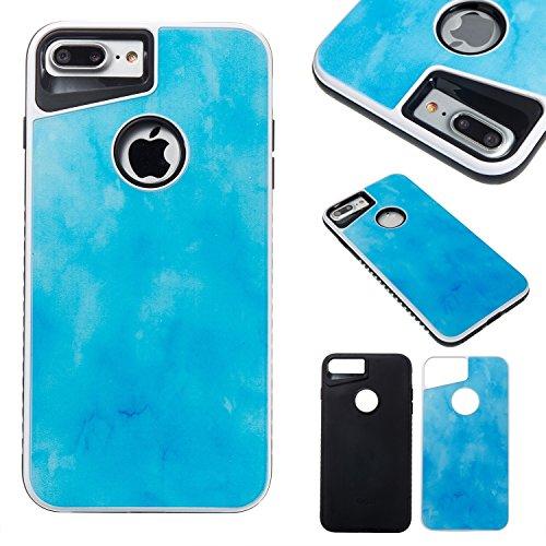 JIALUN-étui pour téléphone Housse de téléphone amovible double imitation en marbre pour téléphone portable pour iPhone 4 Plus ( Color : F ) B