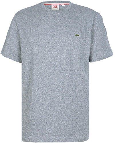 Lacoste L!VE Slubbed Jersey T-shirt bleu indigo