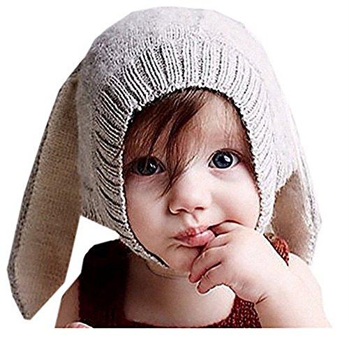 Vinawo Baby Mütze Hood Cotton/Baumwolle Kinder Hut - Häkelarbeit Winter Kaninchen Kostüm Fotografie Häschen mit Ohren 1-5 Jahre Mädchen (Häschen Mädchen Kostüm Baby)