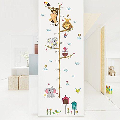 Pegatina pared medidor altura animales dormitorios