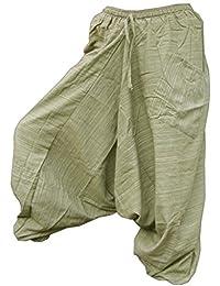 """Panasiam Aladinhose """"Areng"""", aus festen Naturstoffen, 100% freshrunk Baumwolle, für Sie & Ihn, passt S bis L, mit einer Tasche"""
