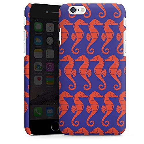 Apple iPhone 5s Housse Étui Protection Coque Hippocampe Été Vacances Cas Premium mat