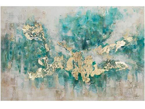 KunstLoft® Acryl Gemälde \'Consciousness\' 120x80cm   original handgemalte Leinwand Bilder XXL   Abstrakt Beige Blau Petrol Modern Küche Schlafzimmer   Acrylbild